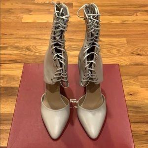 Ferragamo High Heel Lace up Boots 8M